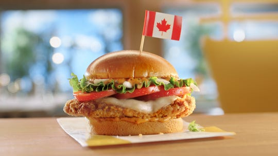 Tomato Mozzarella Chicken Sandwich from Canada.