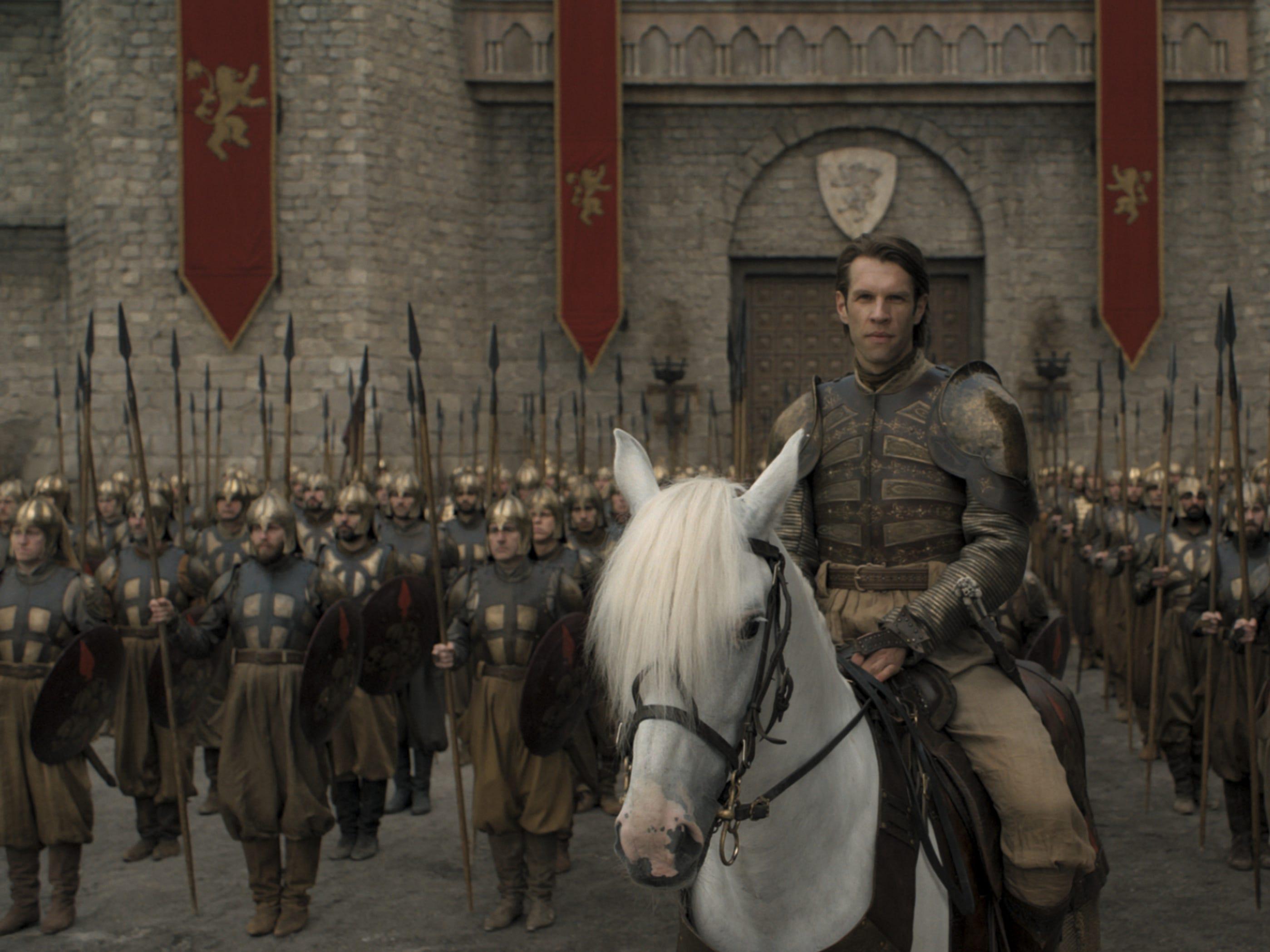 "Marc Rissmann as Harry Strickland on ""Game of Thrones."""