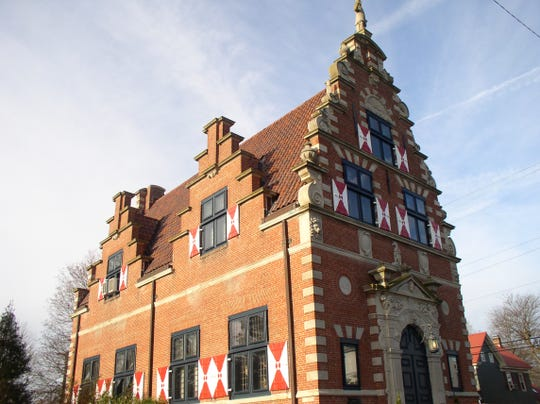 The 88-year-old Zwaanendael Museum commemorates the founding of Delaware's first European settlement by the Dutch in 1631. The terra cotta roof tiles and decorative shutters are fashioned in the same style as those of the city hall in Hoorn, Netherlands.