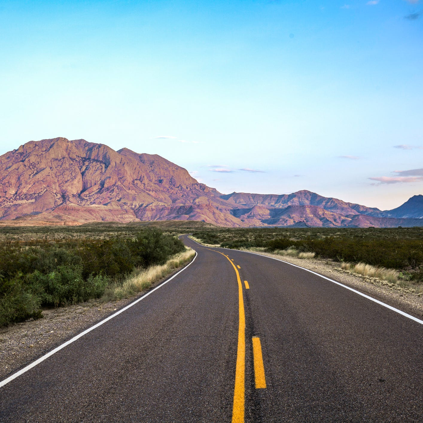 Best road trip in the middle of nowhere: Marathon to Presidio, Texas. Route: U.S. Highway 385, FM-170 (160 miles). The only companions you'll have during long stretches of this paved, two-lane road through Big Bend National Park are cacti and migratory birds. This is one of the most isolated of all U.S. national parks, but it's also one of the most dramatic, with desert, canyonand mountain landscapes. Santa Elena Canyon is worth the detour from the main park road to see its 1,500-foot drop-offs. Stop for lunch at the 1930s-era Starlight Theatre in the historic Terlingua Ghost Town. Movie buffs will marvel at the abandoned Western film sets at Contrabando.