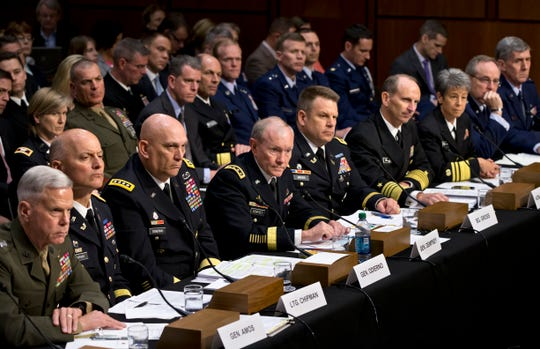 Top military leaders testify to Congress in 2013 on sexual assault.