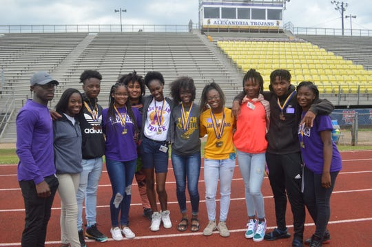 The Alexandria Senior High track and team came in third in the boys Class 5A standings and tied for fifth in the girls standings last week at the LHSAA state track meet in Baton Rouge.