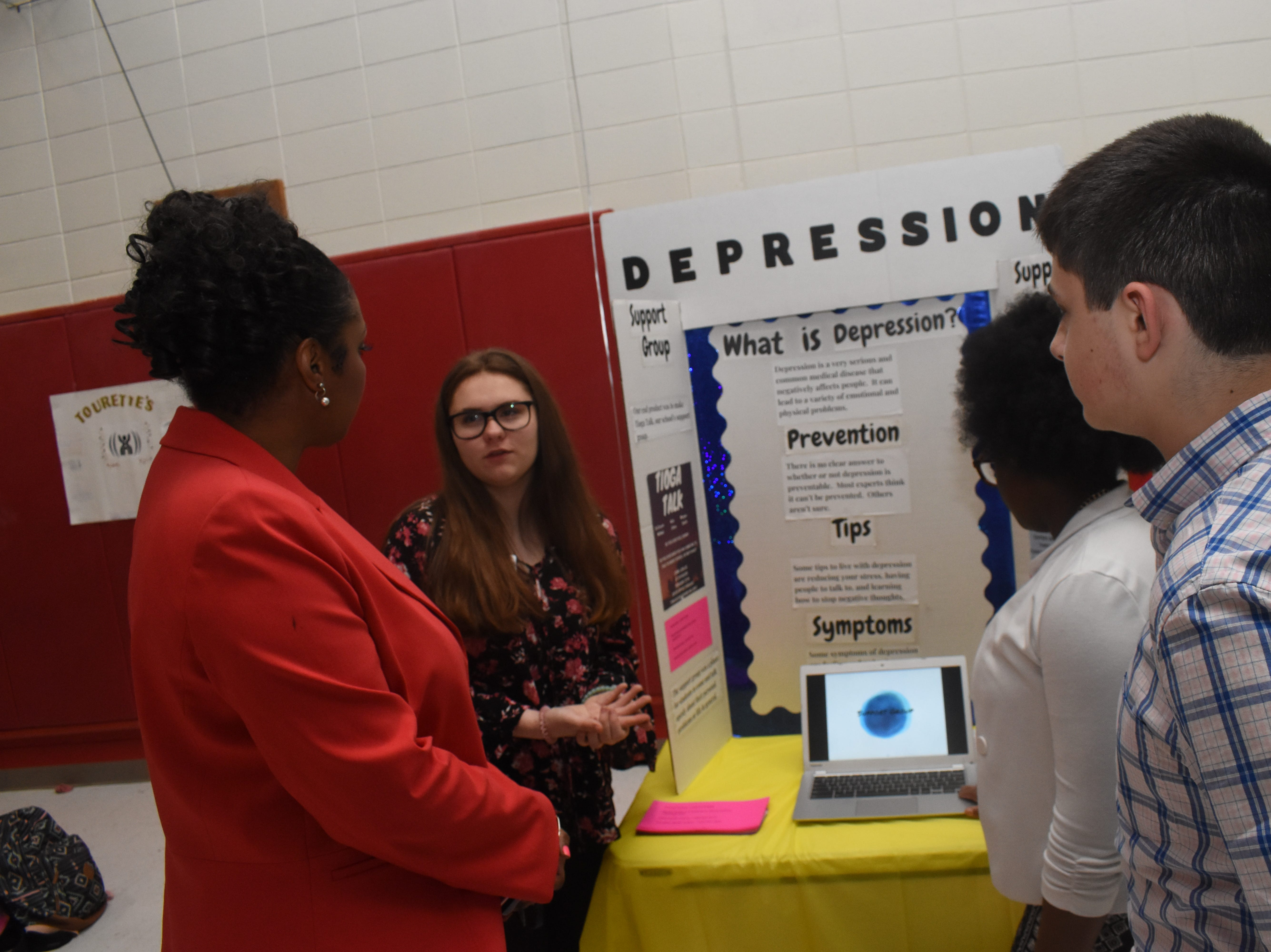 Tioga Junior High School seventh-graders presented projects to community members Thursday, May 9, 2019 in a class called Genius Hour. Students in the class were recommended by teachers. Janice Williams, a teacher at TJHS, said Genius Hour allows students to explore their own passions and encourages creativity in the classroom. The class allows students to choose what they would like to learn.