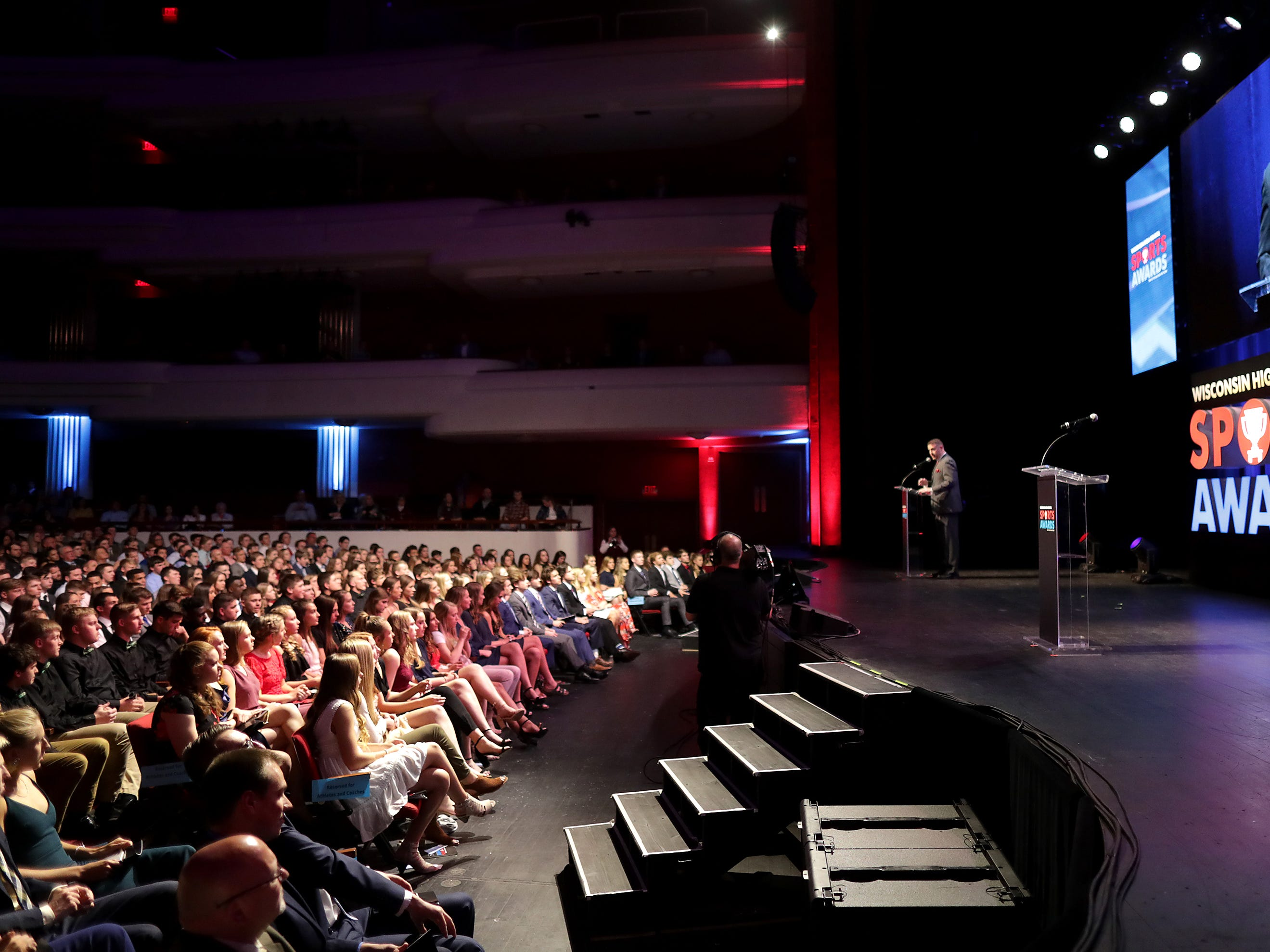 Wisconsin High School Sports Awards show at the Fox Cities Performing Arts Center on Wednesday, May 8, 2019, in Appleton, Wis. Olympic champion Michael Phelps was the guest speaker. The annual event was presented by USA TODAY NETWORK-Wisconsin.  Wm. Glasheen/USA TODAY NETWORK-Wisconsin.