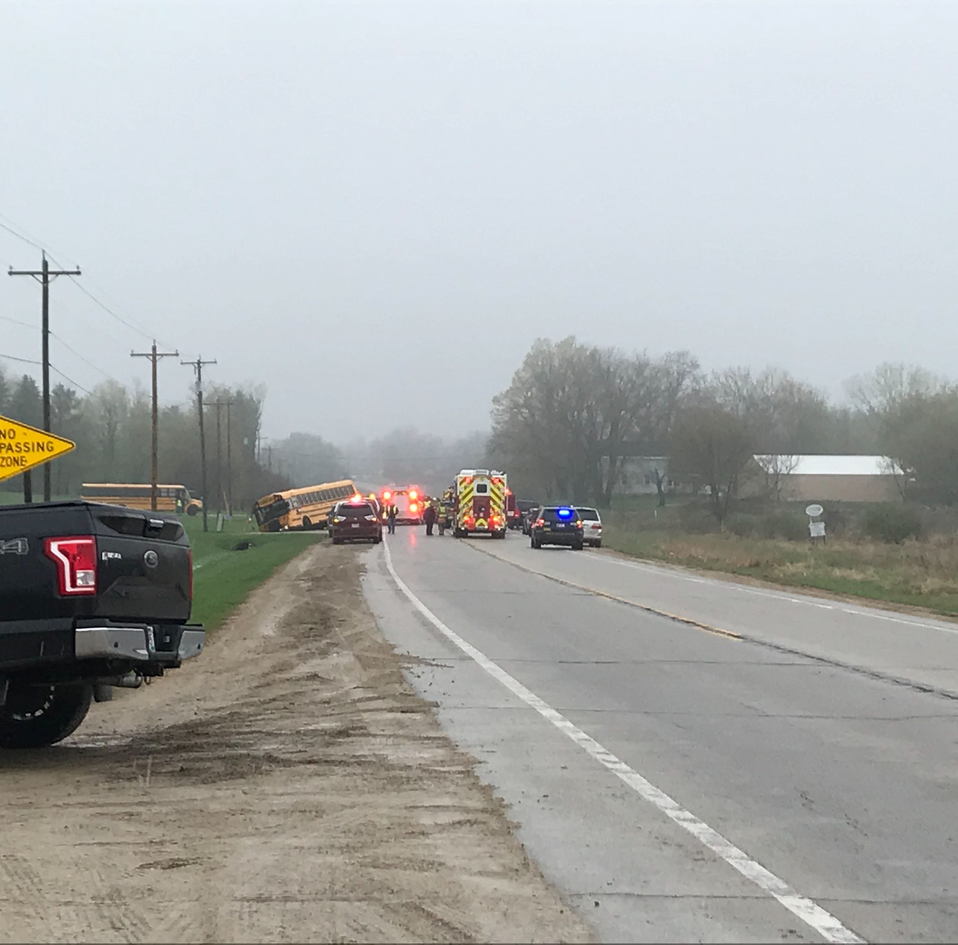 10-year-old Hortonville Elementary student dies in crash involving school bus on State 15