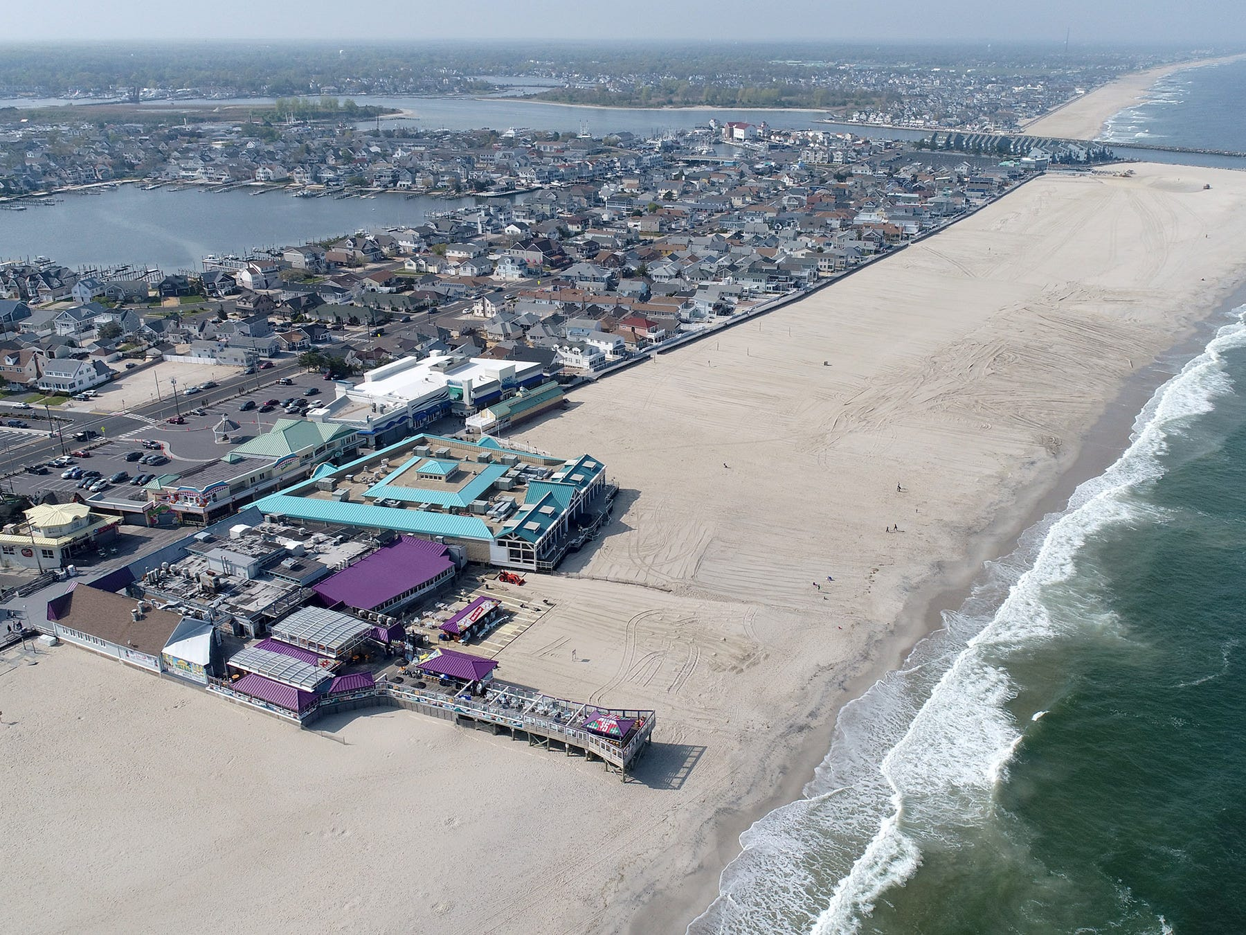 A aerial view of the north end of the Boardwalk in Point Pleasant Beach Thursday afternoon, May 2, 2019.