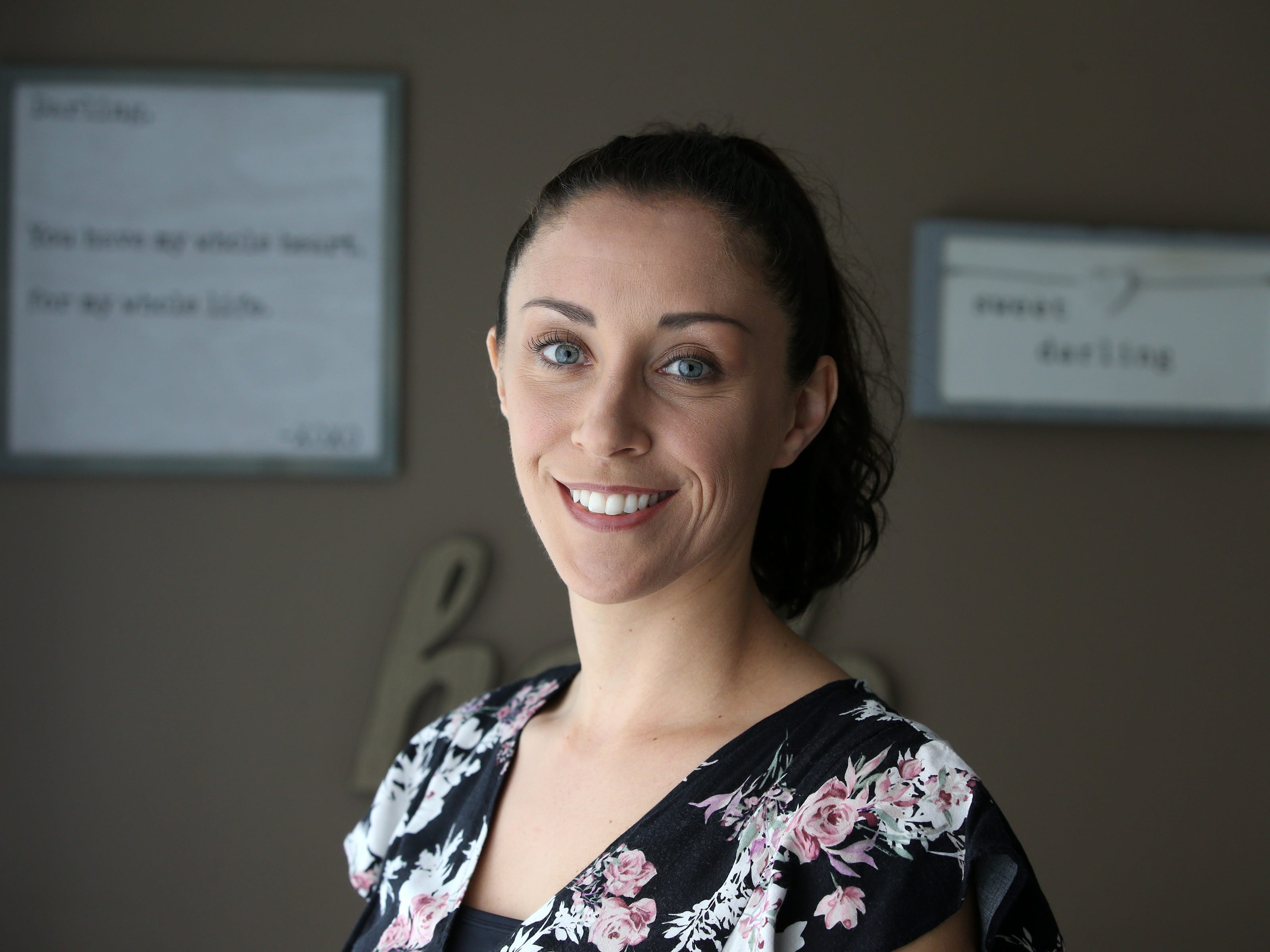 Mandy Figueroa, owner of Miraculous Moments, a year-old firm in Brick that specializes in pregnancy and provides 2D/3D/4D ultrasounds, holistic services, and education, talks about her business in Brick, NJ Friday, May 3, 2019.