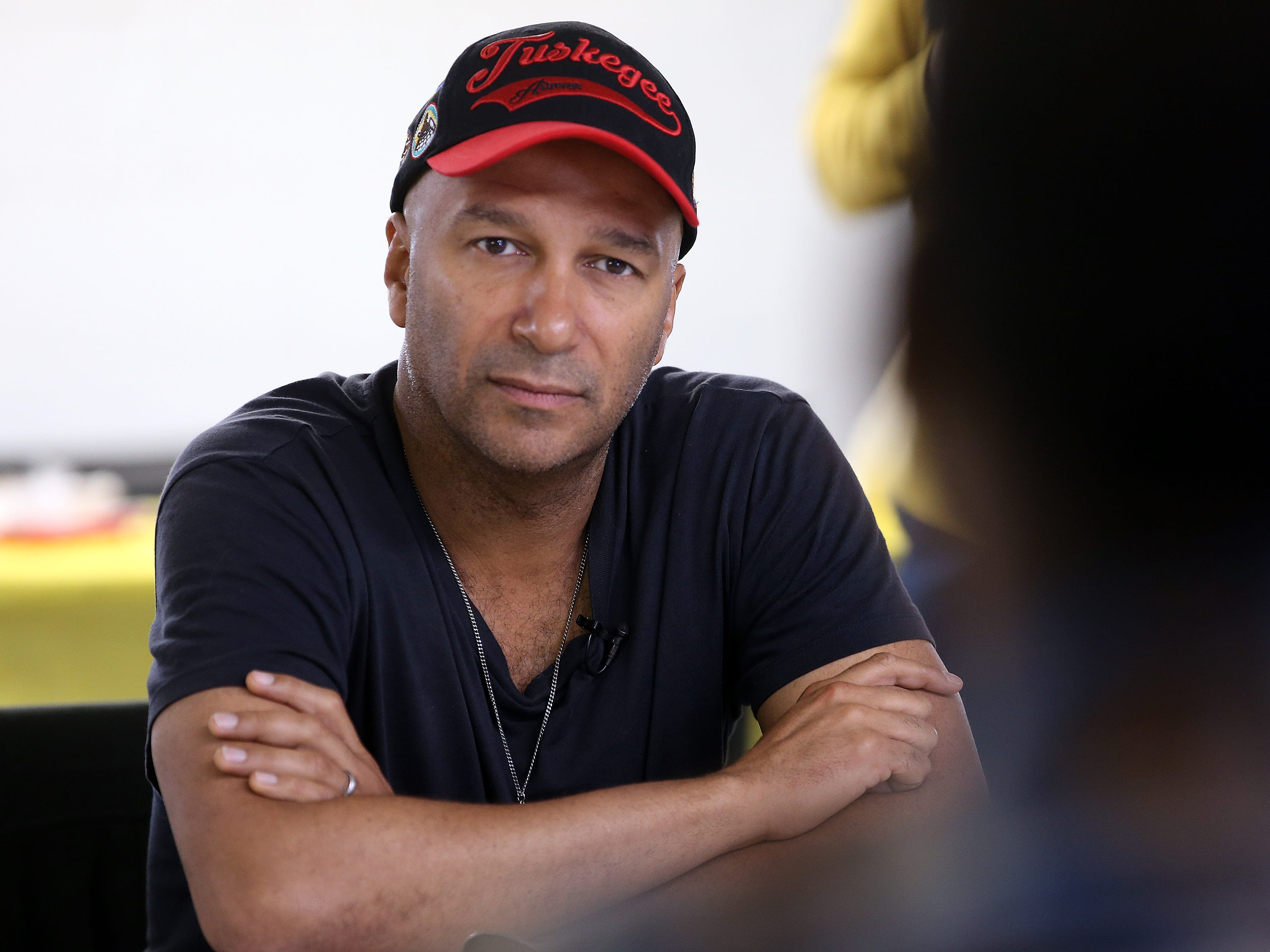 Rock icon and political activist Tom Morello, who is known for his seminal work with Rage Against the Machine, Audioslave, and the Nightwatchman, met with survivors of solitary confinement in New Jersey prisons during an event hosted by the ACLU of New Jersey and New Jersey Campaign for Alternatives to Isolated Confinement (NJ-CAIC) at the Allen Chapel A.M.E. Church in Asbury Park, NJ Tuesday May 7, 2019.