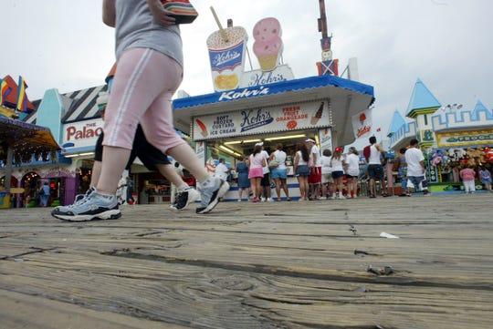 A file photo of Kohr's Frozen Custard: The Original on the boardwalk in Seaside Heights.