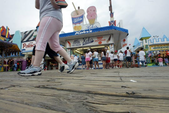 A file photo of Kohr's Frozen Custard: The Original on the boardwalk in Seaside Heights.