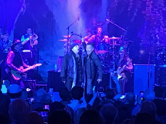 Bruce Springsteen and Little Steven and the Disciples of Soul May 8, 2019 at the Paramount Theatre in Asbury Park.