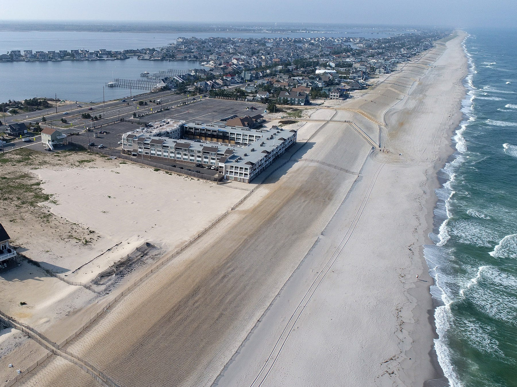 The Camp Osborn area along the coastline in Brick Township remains mostly undeveloped years after it was washed away by Superstorm Sandy.  This view Thursday afternoon, May 2, 2019, looks north along the coastline.