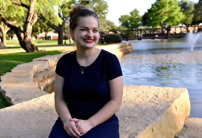 Grace Mitchell on the Hardin-Simmons University campus.