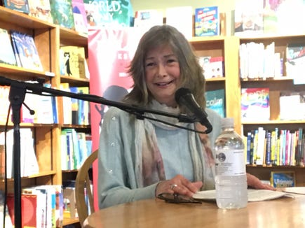 "Delia Owens, New York Times Best Sellers List No. 1 author for her novel, ""Where the Crawdads Sing,"" spoke to a capacity crowd May 8, 2019 at Malaprop's Bookstore and Cafe in Asheville."
