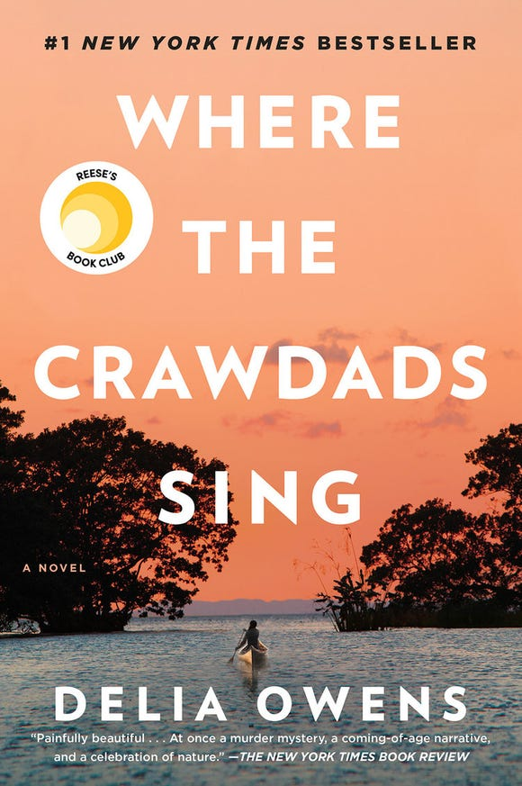 """""""Where the Crawdads"""" sing by Delia Owens."""
