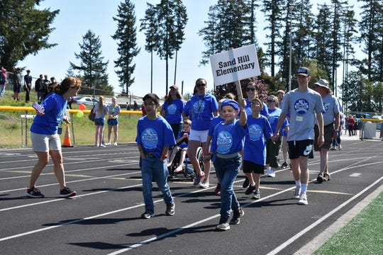 Sand Hill Elementary students participated in the Day of Champions. Day of Champions is a track and field event for special needs students that came to Mason County for the first time this year.