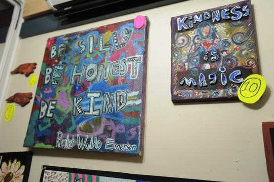 The Art In the Afternoon art show in the Black Mountain-Tyson Library features a silent auction containing work by the children in the after-school program. The auction will raise money for a pair of local charities.