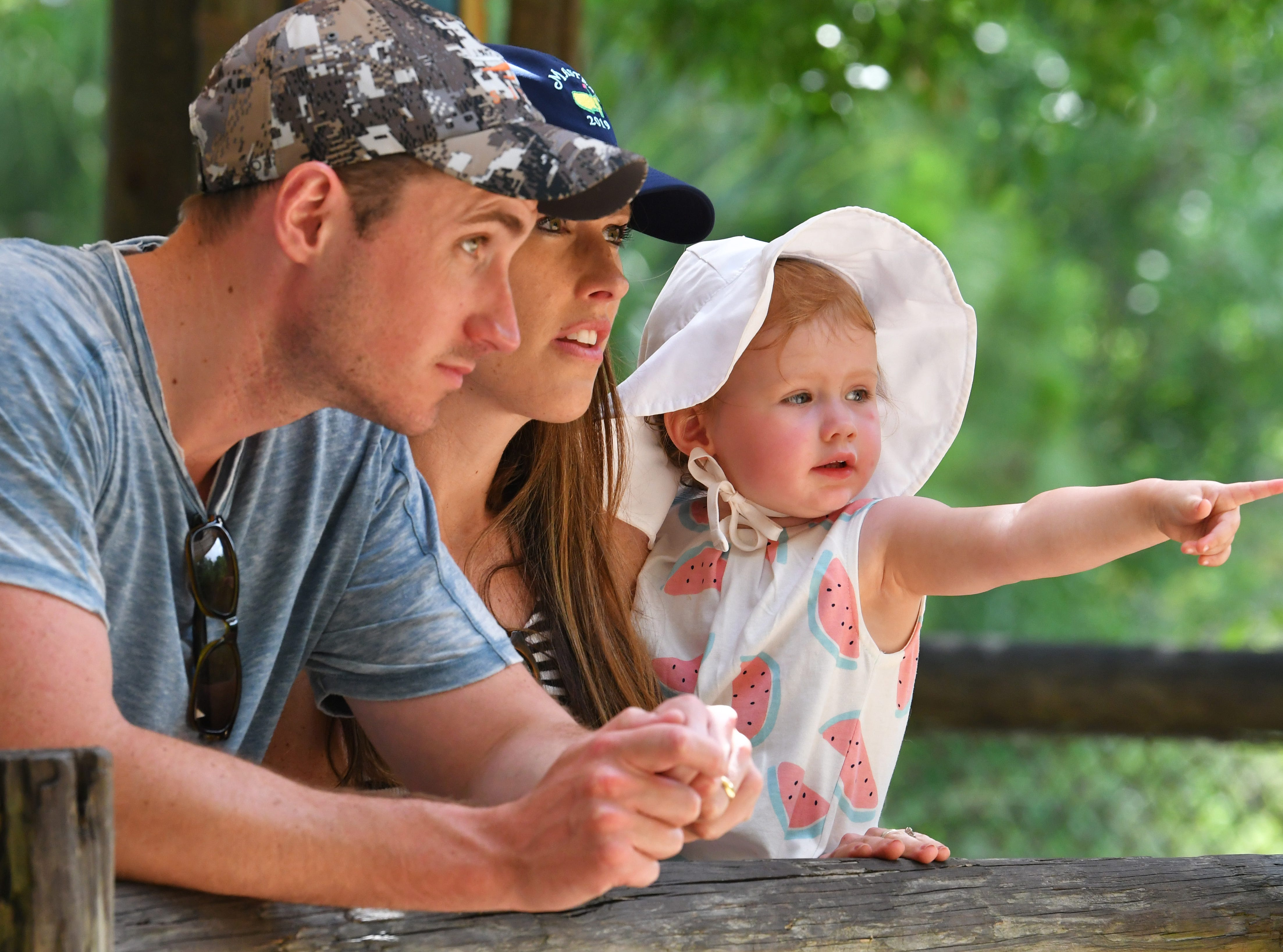 Visiting from Atlanta, Georgia. Steve and Ashton Lindberg, and their daughter Belle, 21 months.The Brevard Zoo in Viera is a popular visit for locals and tourists alike.