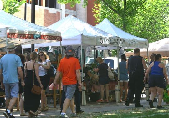 The Burlington Farmers' Market on Saturday, June 17, 2017, in City Hall Park in Burlington.