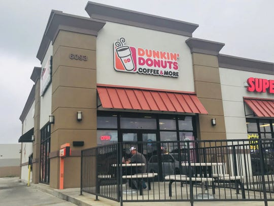 Pictured is a Dunkin' Donuts location in the 6000 block of Saratoga Boulevard in Corpus Christi.