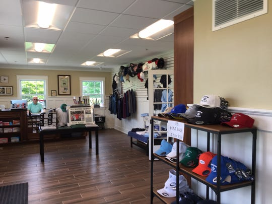 The new golf pro shop at Moorestown Field Club. The shop is in the newly-expanded portion of the clubhouse.