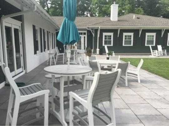 A large outdoor patio area is part of the recent improvements at Moorestown Field Club.