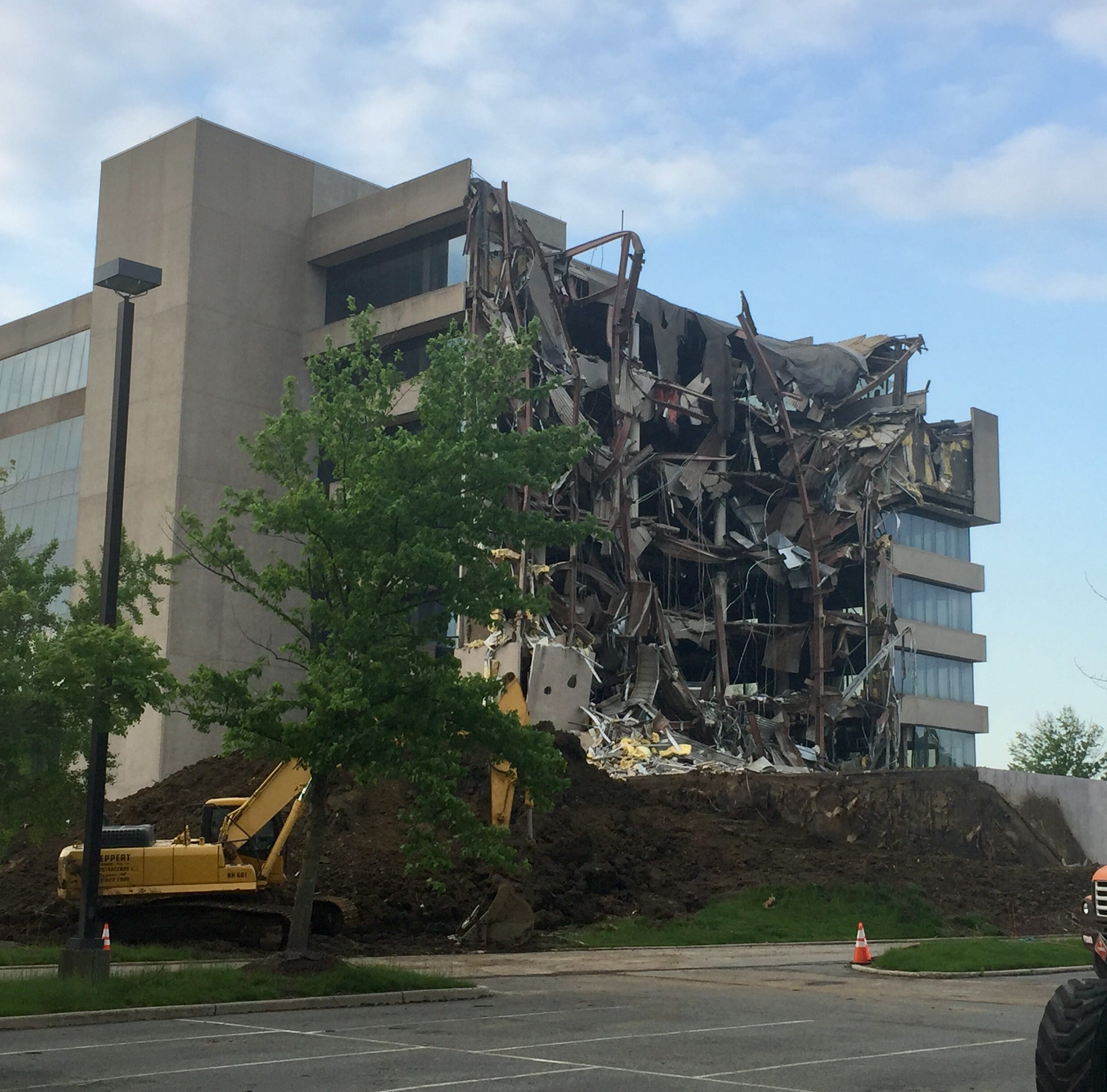 Demolition begins at former Subaru headquarters in Cherry Hill
