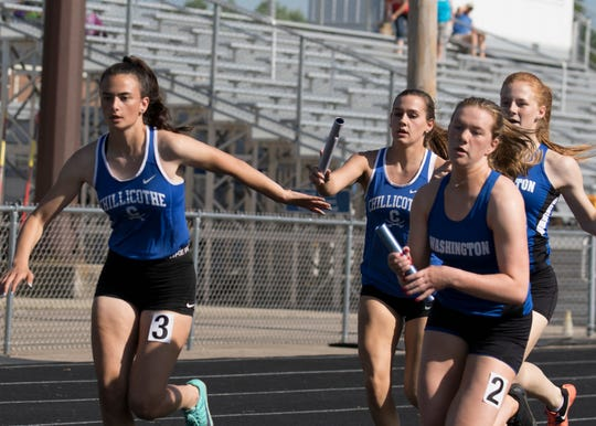 Chillicothe High School track and field competed at the Division I Southeast District Championship on Thursday at Marietta College as some of the Cavs' top athletes qualified for the regional meet.