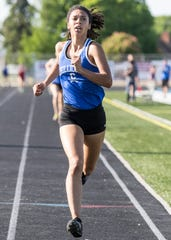 Chillicothe's Danielle Fleurima topped the 800-meter run with a time of 2:26.24 at the FAC track league championships on May 8, 2019, in Chillicothe, Ohio.