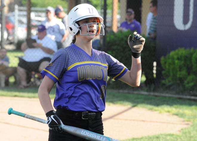 Unioto softball's Carissa Wheeler earned the female athlete of the week award after hitting a homerun in a district semifinal game against Sheridan on Tuesday.