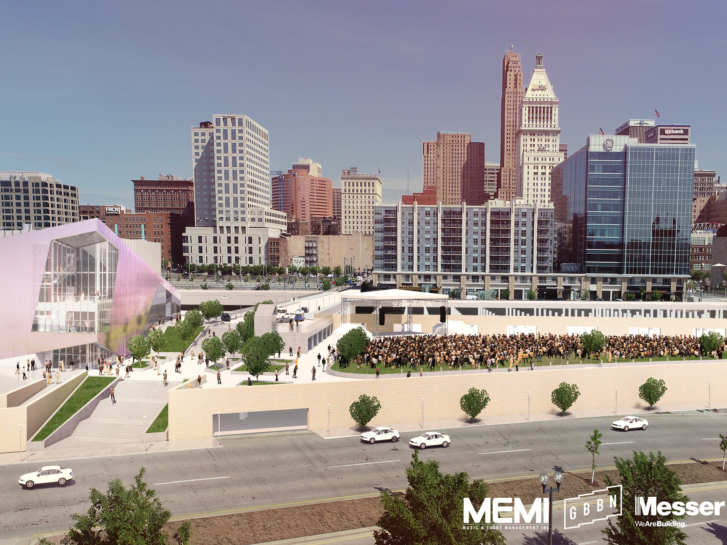 Here's what the new music venue at the Banks will look like. Plans for the new music venue are complete and ready to begin construction, according to Music & Event Management, Inc.