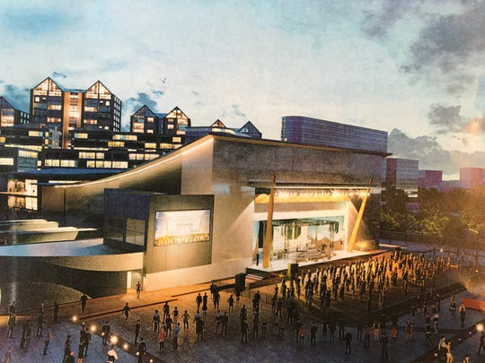 Rendering of PromoWest's planned music venue in Newport