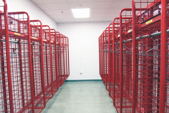 Fairfield Township's new Gilmore Road fire station has a separate room to store firefighter's turnout gear. A motion sensor turns on lights when someone enters the room, otherwise it remains dark to reduce exposure to ultraviolet light.