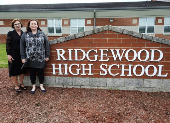 Jill Collins and her daughter, Haley Evans, teach together at Ridgewood High School. Collins never pushed her daughter into teaching, but was thrilled she choose that path and was even more happy when she landed a job at Ridgewood about eight years ago.