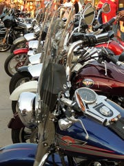 Standing at attention, Indianola's Bike Night