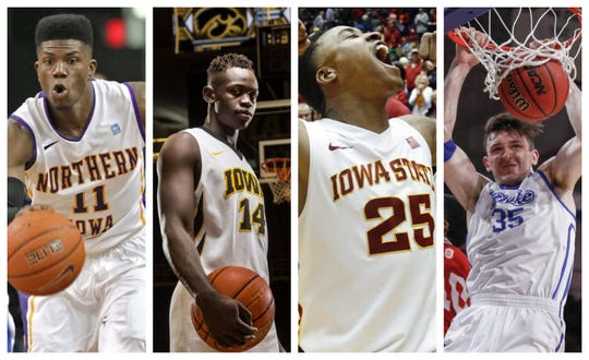 From left to right: Wes Washpun, Peter Jok, Tyrus McGee, Nick McGlynn