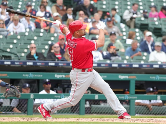 Albert Pujols gets his 2,000th career RBI on a homer against Tigers pitcher Ryan Carpenter.