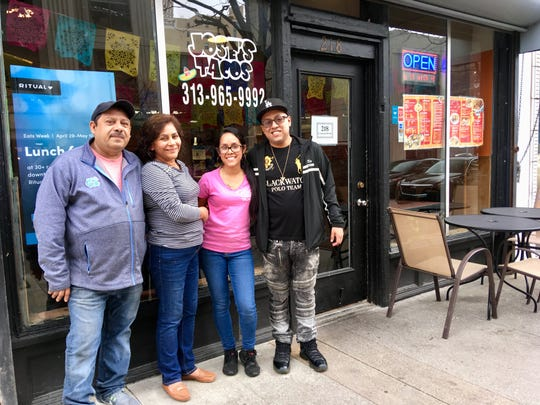 The Orozco family owns Jose's Tacos in Detroit.