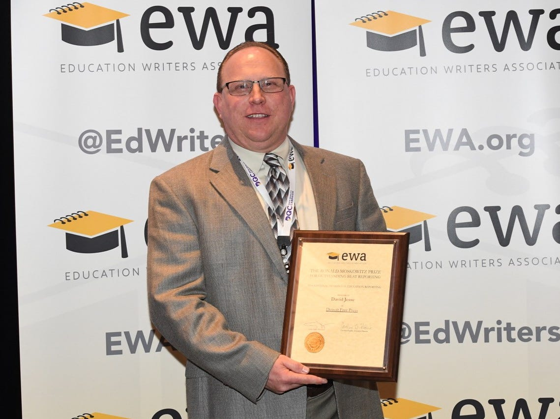 Free Press writer David Jesse named top education beat reporter in country