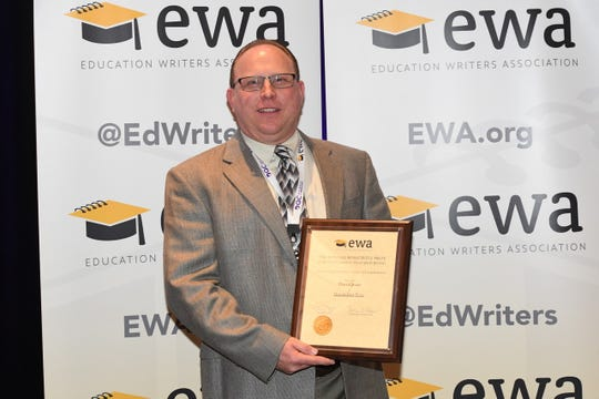 Detroit Free Press Higher Education Reporter David Jesse was named the top education reporter in the country for 2018 by the Education Reporters Association.