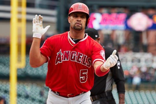Los Angeles Angels first baseman Albert Pujols