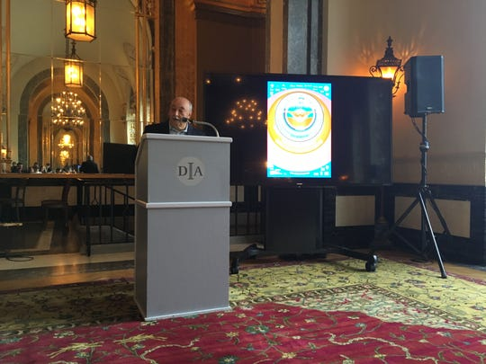 Concert of Colors founder Ismael Ahmed speaks at a media event at the Detroit Institute of Arts on Thursday, May 9, 2019.