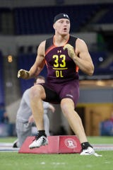 Maxx Crosby distinguished himself with an impressive showing at the NFL Combine.