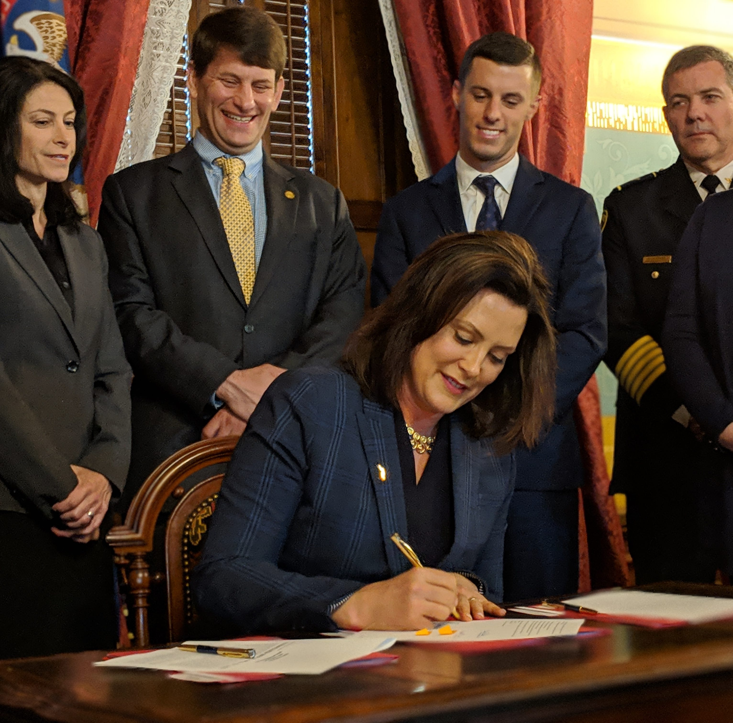 Whitmer breaks mold with early, often veto threats