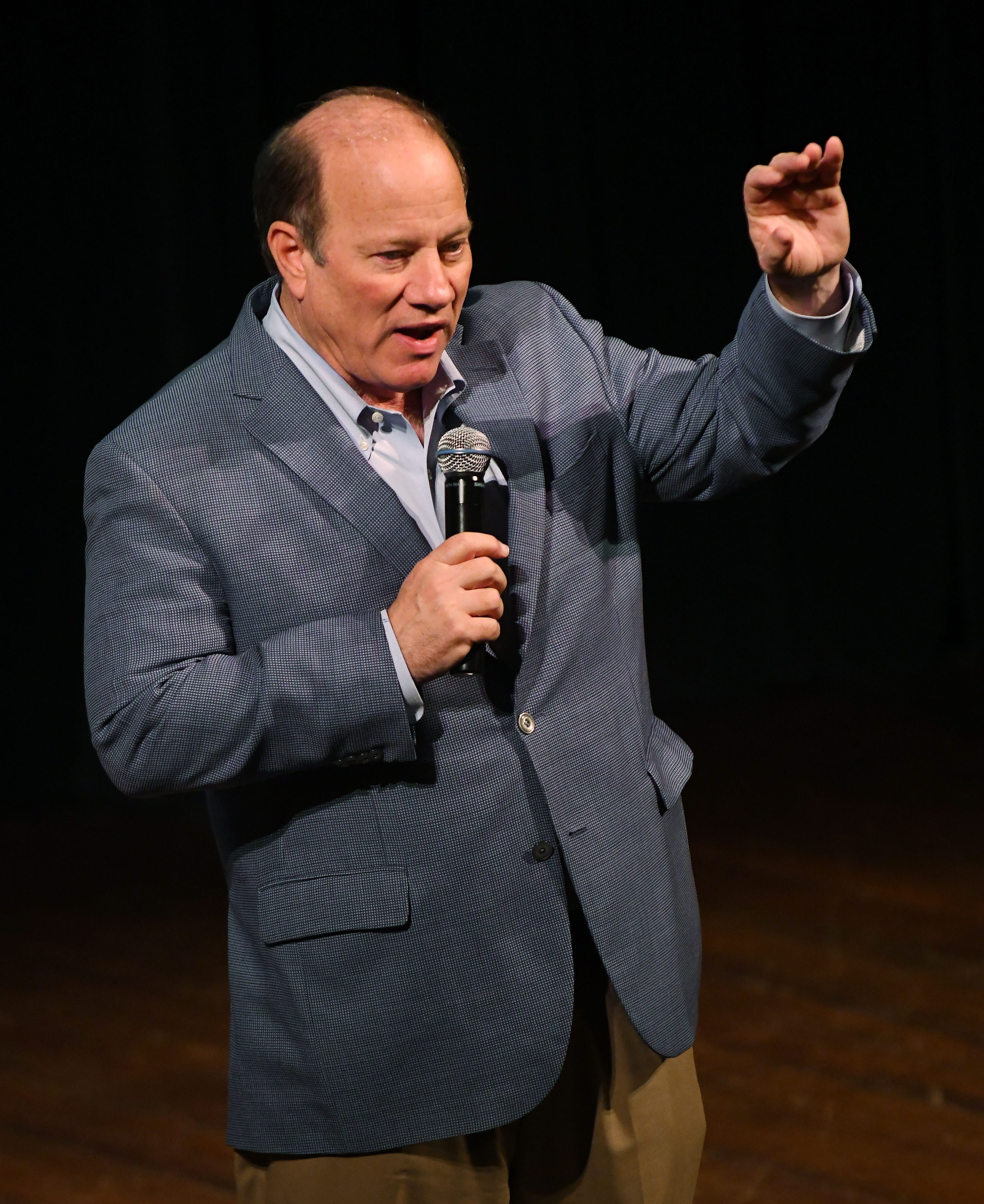 Detroit Mayor Mike Duggan spoke about getting more ex-offenders and low-income residents access to employment at the um3detroit symposium Thursday at the Gem Theatre.