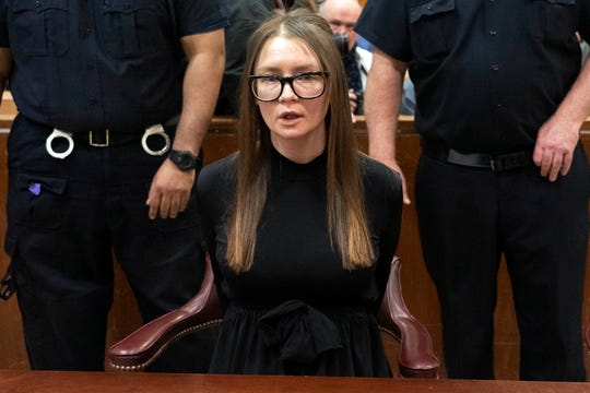 Anna Sorokin arrives for sentencing at New York State Supreme Court, in New York, Thursday, May 9, 2019.