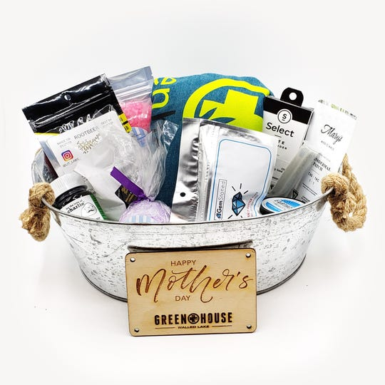 The Green House of Walled Lake is selling a limited number of Mother's Day baskets with cannabidoil bath salts, scrubs and bath bombs along with cannabis-infused chocolates.