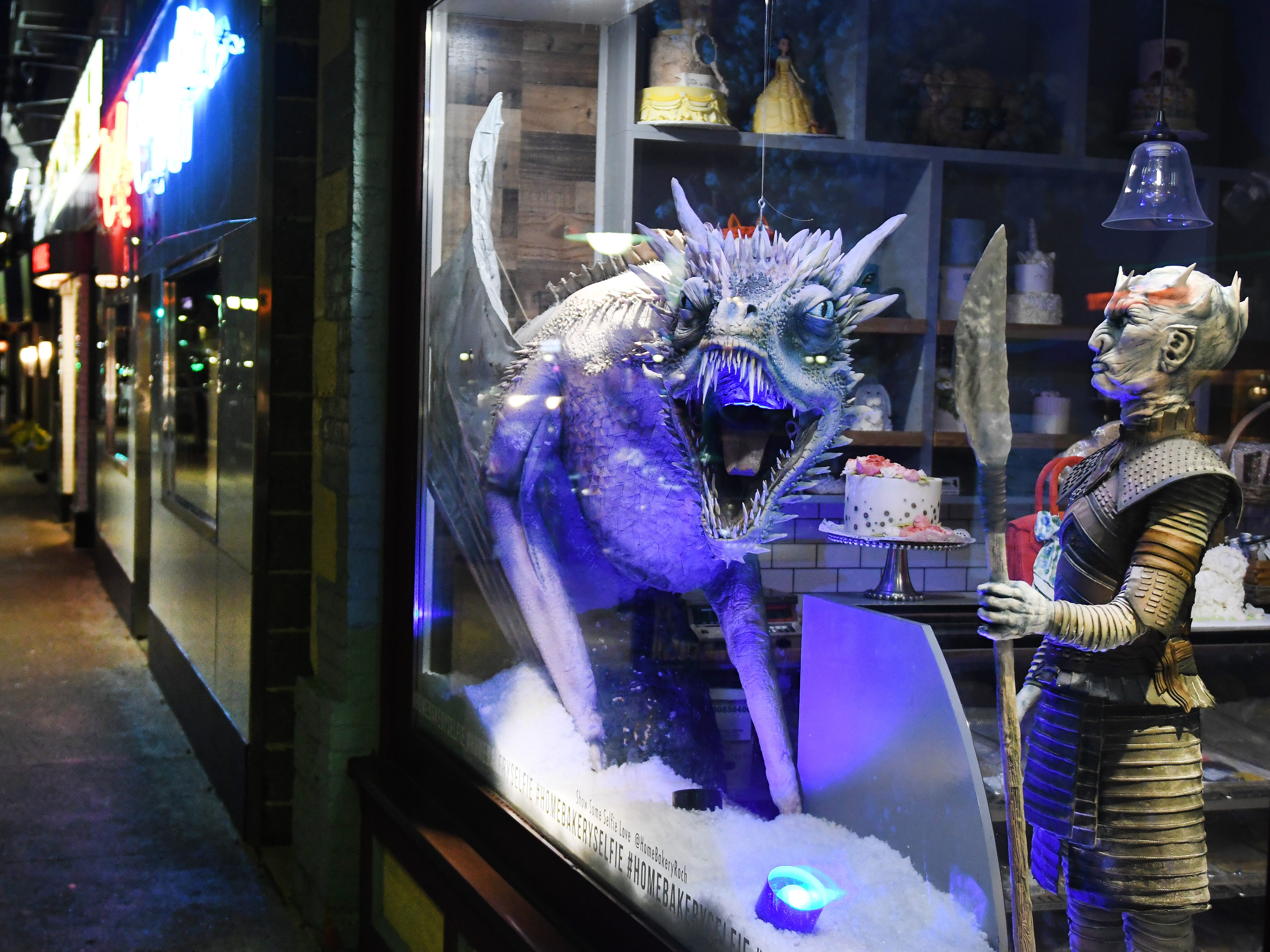 The 'Game of Thrones' window display is   expected to remain at The Home Bakery until June.