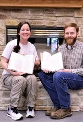 Kerry Schamel-Gonzalez, left, daughter of Jack Schamel of Chemung, and Brad Hatch each authored chapters in a newly-published volume of archaeological collections.