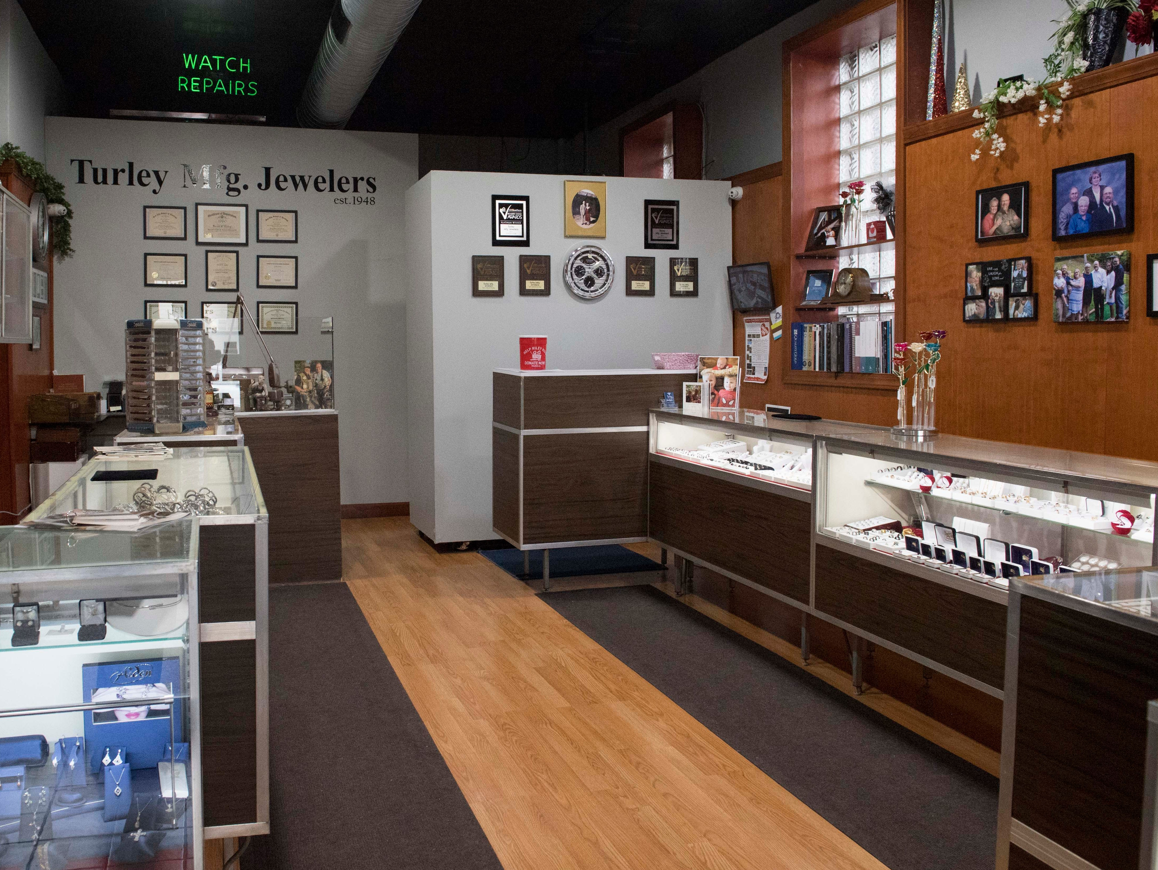 Turley Mfg. Jewelers is a third generation family own jewelry store in its 71st year in Downtown Evansville, Indiana.